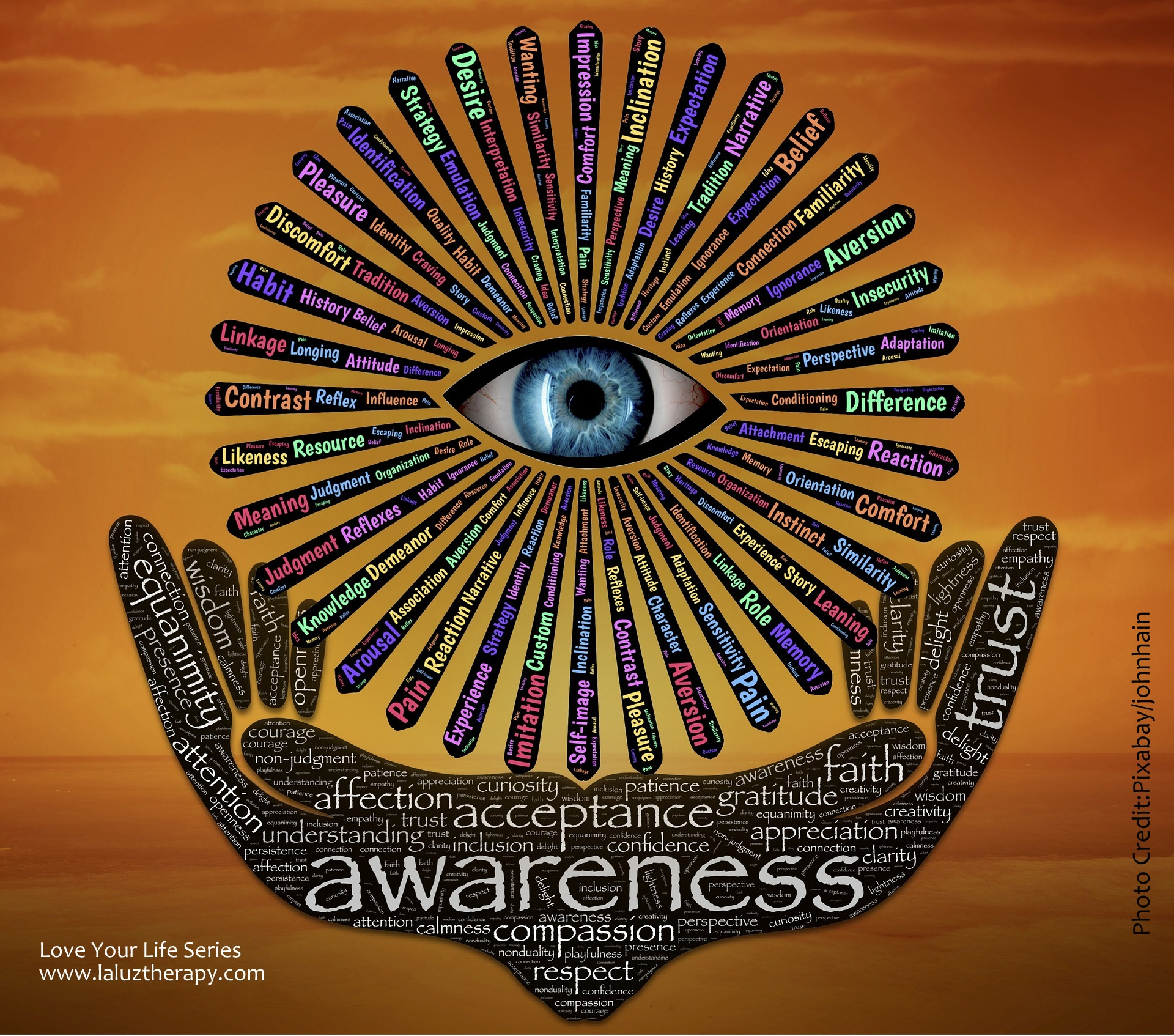 Awareness La Luz Therapy www.laluztherapy.com reiki meditation wellness vocal sound therapy Lucy Toppetta